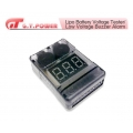 G.T. POWER Lipo Battery Voltage Tester/Low Voltage Buzzer Alarm