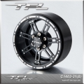 TFL 2.2 Inch 7-spoked Beadlock Wheels With The Hub  BLACK ( PAIR )