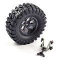 FTX OUTBACK SPARE TYRE MOUNT & TYRE/6 HEX WHEEL BLACK