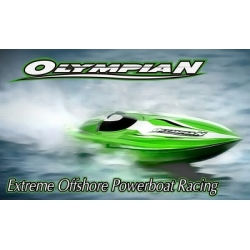 Thunder Tiger OLYMPIAN 6S brushless EXTREME Power Boat RTR GREEN  994mm, ABS, water-cooled engine and 180M controller