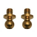 Team Associated Ball heads 3,25 mm, steel, TiN coated'' gold'', short (2)  '''' Tuning Factory Team uA for TC6.1/TC6